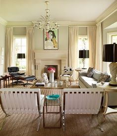 This furniture layout is perfect for my living room. My Living Room, Home And Living, Living Room Decor, Living Spaces, Living Room Inspiration, Interior Design Inspiration, Style Inspiration, Eames Chairs, Room Chairs