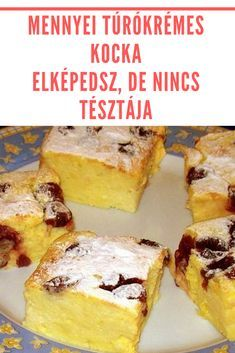 Hungarian Desserts, Hungarian Recipes, Delicious Desserts, Dessert Recipes, Banana Bread, Biscuits, Bakery, Deserts, Food And Drink
