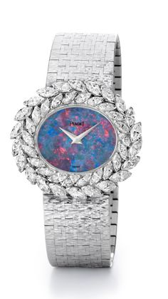 Piaget jewelry watch set with diamonds, with opal dial