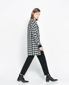 Zara houndstooth coat...
