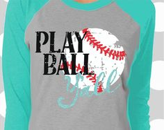 Play Ball Y'all svg, Baseball Mom svg, distressed Baseball svg, dxf, eps, png, Baseball svg, cricut, iron on decal, baseball team svg, png by ShortsandLemons on Etsy