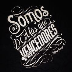 Mas que vencedores | Victorious | t-shirt for Risen Apparel :)