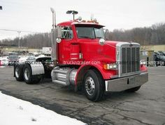 The Peterbuilt 378.  The truck Jim drives with a 64 ft. crane on the flatbed.