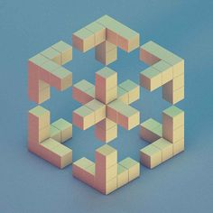 did a 3D hexagon with writing facing the inside  geometric art design cube