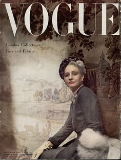 Vogue UK SEPT. 1948.  I predict we'll be seeing a return of grey hair on Vogue covers in the near future!