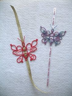 Butterfly Bookmarks for the 25-Motif Challenge by Singtatter, tatting, frivolite, lace, handmade