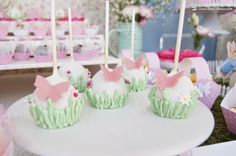 cakepops for this peter rabbit themed girl' birthday We try to use the garden idea