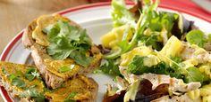 Salade met gegrilde kalkoen en ananas