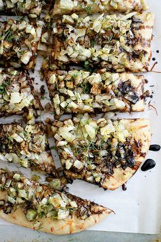 caramelized spring onion + fennel pizza with beer crust #PizzaWeek by girlversusdough, via Flickr