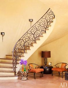 Oh my goodness - LOVE this!!  Great banister!      Will and Jada Pinkett Smith at Home in Malibu :: Architectural Digest