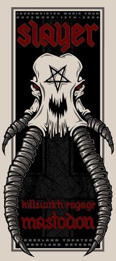 GigPosters.com - Slayer - Mastodon - Killswitch Engage