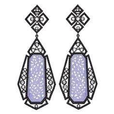 1stdibs - SUTRA Black Diamond and Rose Cut Diamond Jade Earring explore items from 1,700  global dealers at 1stdibs.com