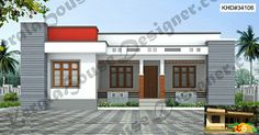 Single storied Flat roof House Less than 3000sqf