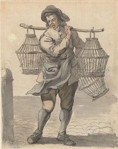 A Poultry Seller, c.1759 by Paul Sandby