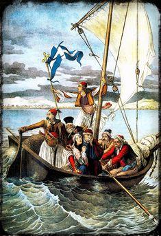 ΣΤΑ ΑΛΥΤΡΩΤΑ ΕΔΑΦΗ ΤΟΥ ΕΛΛΗΝΙΣΜΟΥ, ΟΙ ΕΛΛΗΝΕΣ ΗΤΑΝ ΥΠΟ ΣΥΝΕΧΗ ΔΙΩΓΜΟ ΜΕΤΑ ΤΗΝ ΕΠΑΝΑΣΤΑΣΗ ΤΟΥ 1821 ΚΑΙ ΤΗΝ ΙΔΡΥΣΗ ΤΟΥ ΝΕΟΥ ΕΛΛΗΝΙΚΟΥ ΚΡΑΤΟΥΣ. Ο ΠΑΡΑΣΤΑΤΙΚΟΣ ΑΥΤΟΣ ΠΙΝΑΚΑΣ ΕΧΕΙ ΔΗΜΟΣΙΕΥΘΕΙ ΣΤΟ «ΝΕΟ ΑΡΙΣΤΟΦΑΝΗ». GROSSI AUGUSTO. ΠΕΡΙΟΔΙΚΟ ΝΕΟΣ ΑΡΙΣΤΟΦΑΝΗΣ. ΠΑΝΟΡΑΜΑ ΝΕΩΤΕΡΗΣ ΕΛΛΗΝΙΚΗΣ ΙΣΤΟΡΙΑΣ 1828-1862 ΕΚΔΟΣΕΙΣ ΚΟΥΜΟΥΝΔΟΥΡΕΑΣ ΑΘΗΝΑ 1995 Greek Independence, Greek Paintings, Greek Warrior, Greek History, Bnf, Beautiful Beaches, Athens, The Past, Illustration Art