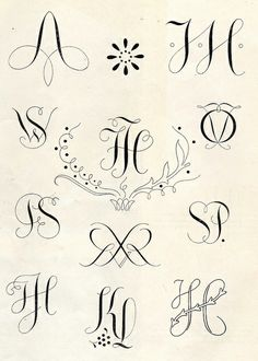 Monograms 1950's
