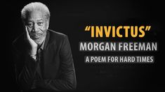 Invictus by William Henley read by Morgan Freeman | Inspirational Poetry Morgan Freeman, Borderline Personality Disorder, Positive People, Nelson Mandela, You Can Do, Audio Books, Poems, Inspirational Quotes, Positivity