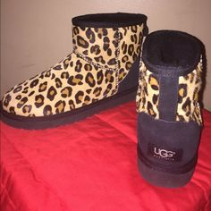 New Authentic UGG Leopard Short Boot. Cute! New. Never worn. Authentic. Ugg Australia. Leopard print. Ankle boot. Rock with skinnies, leggings, etc. So comfortable! No trade. No lowball. UGG Shoes Winter & Rain Boots