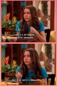 The irony of Hannah Montana quotes. HAHAHAHA love how so many things from the show are modern day Hannah Montana Quotes, Hannah Montana Funny, Look At You, Just For You, Oh The Irony, Zack E Cody, Lol, Have A Laugh, Laugh Laugh