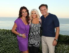 Mark Burnett with his wife, Roma Downey, and the talented Christina Aguilera<3