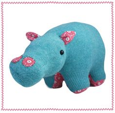 upcycled sweater toys....hippo
