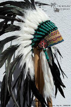 All Black Feather Headdress Gypsy Silk van ParadiseGypsies op Etsy