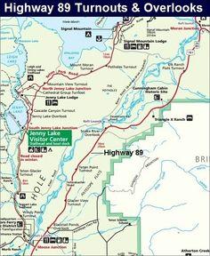 Highway 89 Map, Grand Teton National Park Map
