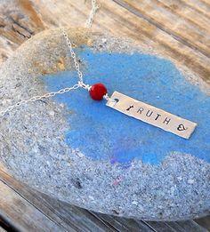 Silver Bar Necklace by SeaSaltShop on Etsy, $24.00