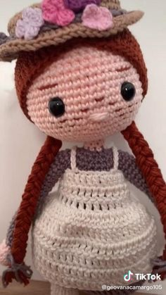 Crochet Headband Pattern, Crochet Doll Pattern, Crochet Patterns Amigurumi, Amigurumi Doll, Crochet Dolls, Crochet Baby, Plushie Patterns, Crochet Crafts, Crochet Projects