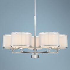 Possini Euro Design 5-Light Overlapping Shade Chandelier -