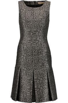MICHAEL KORS Herringbone jacquard dress. #michaelkors #cloth #dress