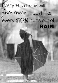 Storm runs out of rain. I'm waiting. It hurts.