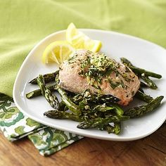 Quick Sizzling Salmon and Asparagus Recipe Image