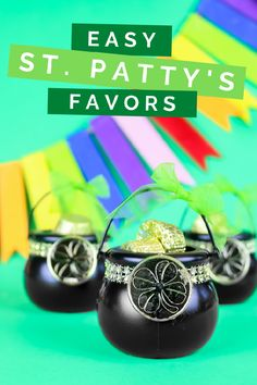 With just a few supplies, you can make these easy St. Patrick's Day favors to get ready for the holiday. Diy Beauty Projects, Cool Diy Projects, Fun Diy Crafts, Amazon Gifts, Diy Party, Party Ideas, Craft Tutorials, Craft Stores, St Patricks Day