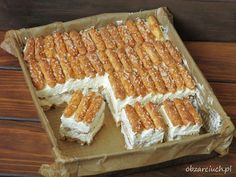 Polish Desserts, Polish Recipes, Fall Desserts, No Bake Desserts, Delicious Desserts, Yummy Food, Baking Recipes, Cake Recipes, Dessert Recipes