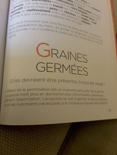 La Germination, Personalized Items, Meal, Recipes