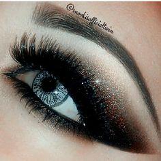 DRAMA WOW ♥♥♥♥♥ glitter, smokey eye, lashes , color...