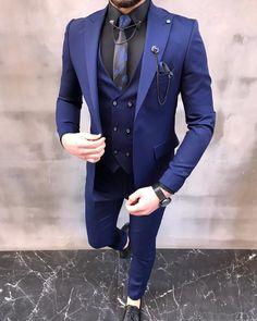 men's suits – High Fashion For Men Grey Slim Fit Suit, Blue Suit Men, Navy Blue Suit, Men's Blue Suits, Mens Slim Fit Suits, Navy Blue Outfits, Black Suits, Mens Casual Suits, Dress Suits For Men