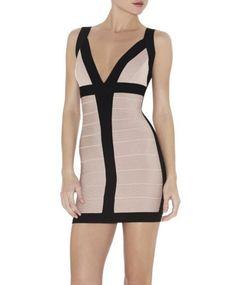 bodycon bandage dress, BILLIE COLORBLOCKED BANDAGE DRESS bandage dresses for cheap