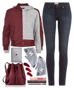 """""""back to school"""" by ecem1 ❤ liked on Polyvore featuring Sophie Hulme, WearAll, Paige Denim, Topshop, New Balance, Ellis Faas and Charlotte Tilbury"""
