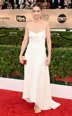 Amanda Peet from SAG Awards 2016: Red Carpet Arrivals  In Narciso Rodriguez