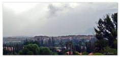 San Mateo, una tormenta se avecina por el fondo.