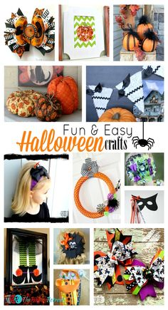 Fun and Easy Halloween Crafts - The Ribbon Retreat Blog.  This is an awesome list! So many cute projects!