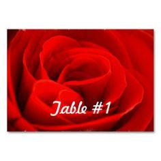 Romance Table Cards