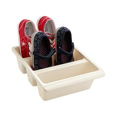 3-Section Shoe Bin. For the running shoes!