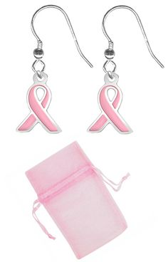 Pair of Breast Cancer Awareness Earrings $11.98 -Pink Ribbon Earrings at http://www.body-jewelry-shop.com/Pair-of-Breast-Cancer-Awareness-Earrings-Pink-Ribbon-Earrings.html #pinkribbonjewelry #earrings #breastcancerawareness #bodysparkle