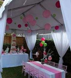 Backyard party decorating ideas best of dream birthday i want access to a tent small tents . backyard party tables and chairs tent rental . Tea Party Birthday, First Birthday Parties, Girl Birthday, First Birthdays, Birthday Ideas, Tangled Birthday, August Birthday, Garden Birthday, Deco Baby Shower