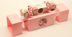 Candy-shaped treat box tutorial.