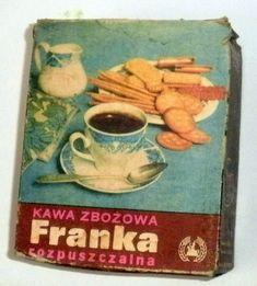 Kawa Zbożowa FRANKA - stare opakowanie tekturowe.