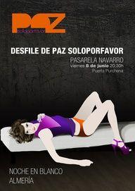 Cartel publicitario para el desfile de la noche en blanco de Almería en 2013